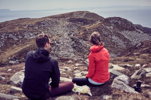 Enjoying the magnificent views from the top of Sliabh Liag